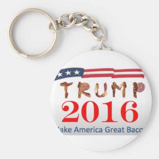 Donald Trump bacon Rund Nyckelring