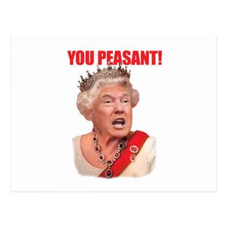 Donald Trump drottningtrumf dig bondaktig vykort