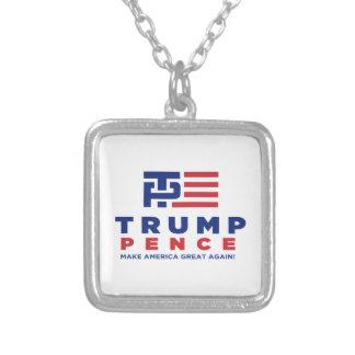 Donald Trump encentmyntvalkampanj 2016 Silverpläterat Halsband