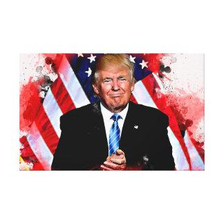 Donald Trump firandeaffisch Canvastryck