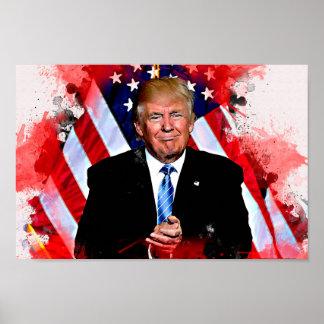 Donald Trump firandeaffisch Poster