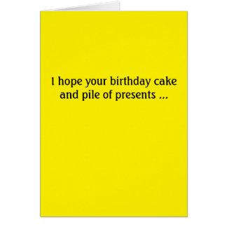 Donald Trump födelsedagkort -- tårta och presenter Hälsningskort