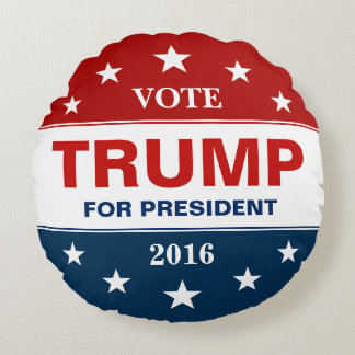 Donald Trump för president 2016 röstar kampanjen Rund Kudde