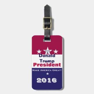 Donald Trump för presidenten 2016 Bagagebricka