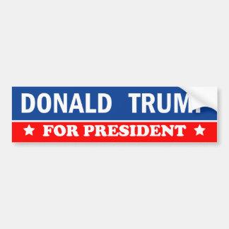 Donald Trump för presidenten 2016 Bildekal