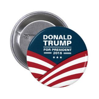 Donald Trump för presidenten 2016 Standard Knapp Rund 5.7 Cm