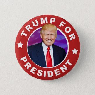 Donald Trump för presidentfotoet Pinback knäppas Standard Knapp Rund 5.7 Cm