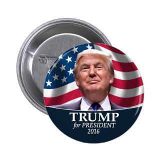 Donald Trump foto - president 2016 Standard Knapp Rund 5.7 Cm