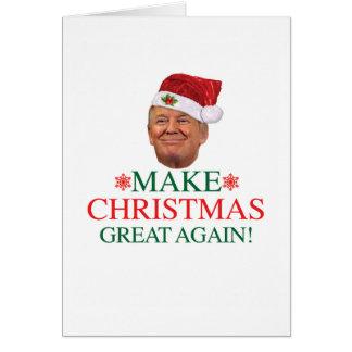 Donald Trump - gör jul underbar igen att card Hälsningskort
