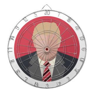 Donald Trump grafisk framställning Piltavla
