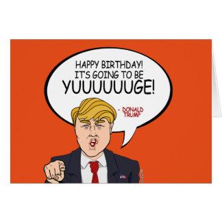 Donald Trump hälsning - grattis på födelsedagen Hälsningskort