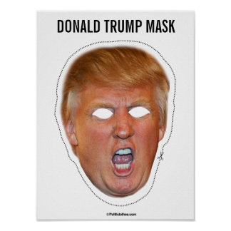 Donald Trump maskerar utklipp Poster