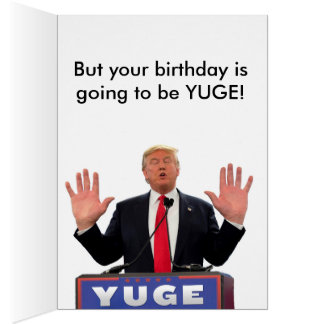 Donald Trump roligt födelsedagkort Hälsningskort