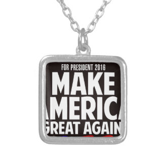 Donald Trump Silverpläterat Halsband