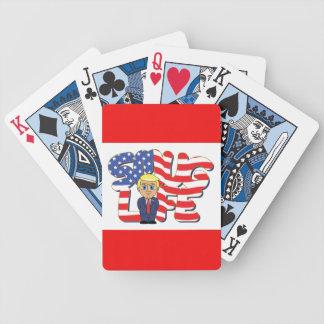 Donald Trump självbelåtet liv Spelkort