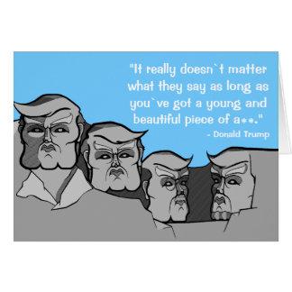 Donald Trump som Mount Rushmore Hälsningskort