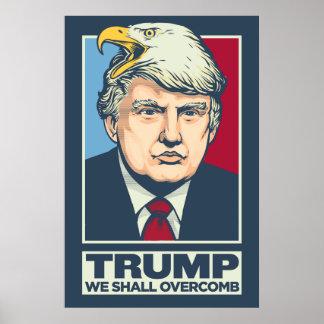 Donald Trump som vi Overcomb Poster