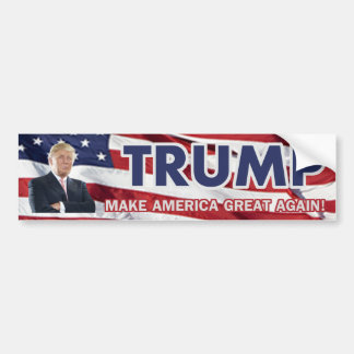 Donald Trump US flagga Bildekal