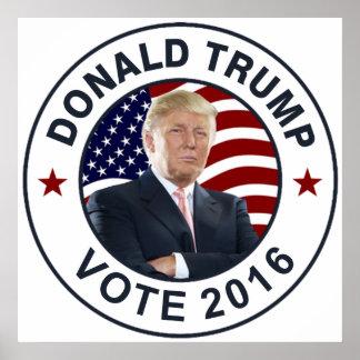 Donald Trump US flagga Poster