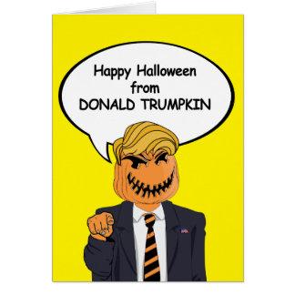 Donald Trumpkin Halloween kort -