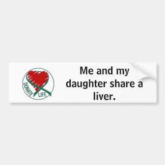 donatelife, mig och min dotteraktie en liver. bildekal