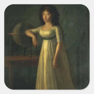 Donna Joaquina Tellez-Giron, dotter av hertigen Fyrkantigt Klistermärke