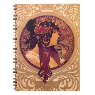 Donna Orechini av Alphonse Mucha Anteckningsbok