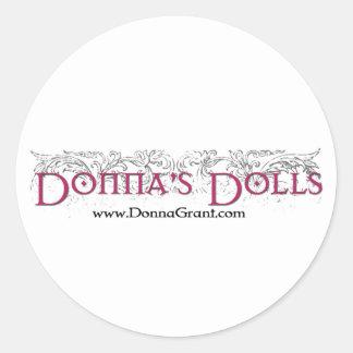Donnas dockor runt klistermärke