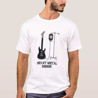 Donor gitarrmusik för heavy metal t-shirts