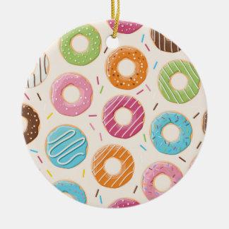 Donuts cirklar prydnaden julgransprydnad keramik