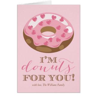Donuts för dig valentin dagkort hälsningskort