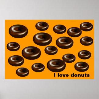 Donuts för pappa poster