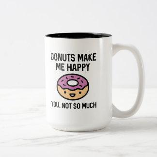 Donuts gör mig lycklig Två-Tonad mugg