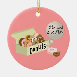 Donutsprydnad Julgransprydnad Keramik