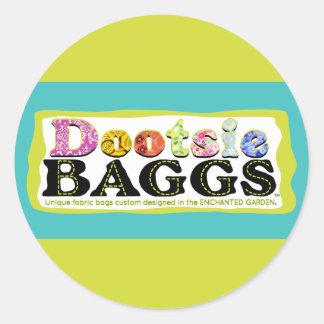 DootsieBAGGS logotypgåvor Runt Klistermärke