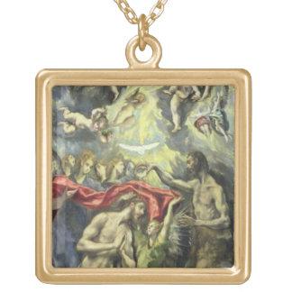 Dop av Kristus, c.1597 (olja på kanfas) Guldpläterat Halsband