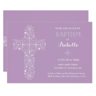 Dop Christeninginbjudan - flicka 8,9 X 12,7 Cm Inbjudningskort