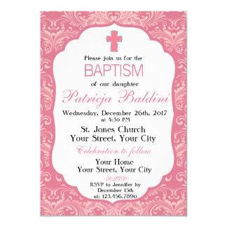 Dop Christeninginbjudan för flickor 12,7 X 17,8 Cm Inbjudningskort