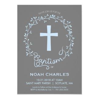 Dop Christeninginbjudan - pojkeinbjudan 11,4 X 15,9 Cm Inbjudningskort