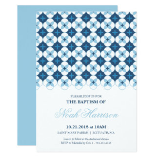 Dop Christeninginbjudan - pojkeinbjudan 12,7 X 17,8 Cm Inbjudningskort