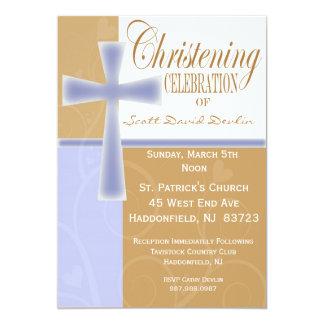 Dop-/Christeningpojkeinbjudningar 12,7 X 17,8 Cm Inbjudningskort