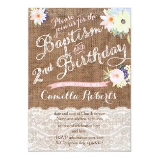 Dop- och födelsedaginbjudningar, 2nd födelsedag 12,7 x 17,8 cm inbjudningskort