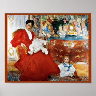 Dora Lamm och henne Sons Poster