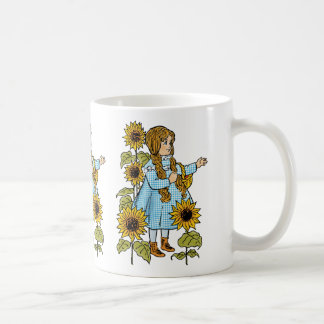 Dorothy för vintageWizard of Oz saga solrosor Kaffemugg