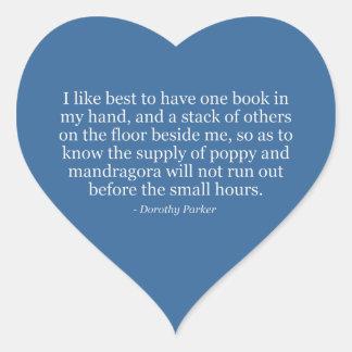 Dorothy Parkers vallmo och Mandragora Hjärtformat Klistermärke