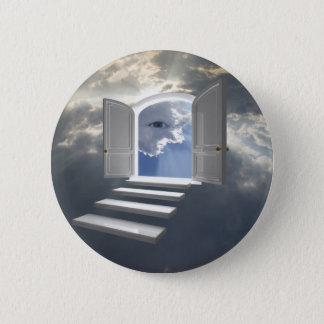 Dörr som öppnas på ett mystic öga standard knapp rund 5.7 cm