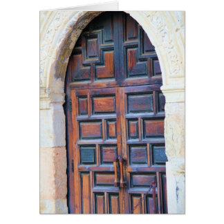 Dörr till Alamoen, San Antonio Texas Hälsningskort