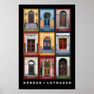 Dörrar i Luthagen, Uppsala Poster