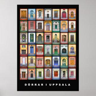 Dörrar i Uppsala (stor) Posters