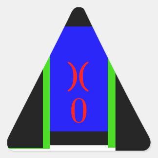 Dörren UT går ut verktyg för uppehället för Triangelformat Klistermärke